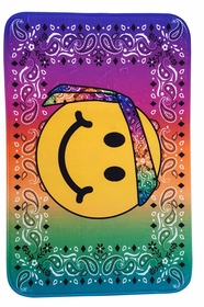 Emoji Smiley Face Wearing Bandanna Multi Use Floor Mat