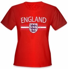 England Vintage Shield International Girls T-Shirt