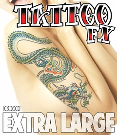 Extra Large Temporary Tattoo - Dragon (Arm - Half Sleeve)