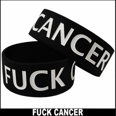 F*ck Cancer Rubber Saying Bracelet