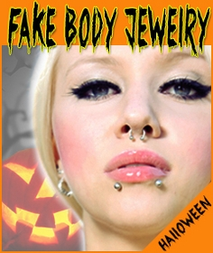 Fake Body Jewelry For Ears Nose Lips Tongue & More!