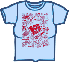 FanClub 80's Rule! Girls T-Shirt (Lt. Blue)