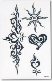 Fiery Tribal  Temporary Fake Tattoo