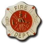 Fire Dept Lapel Pin