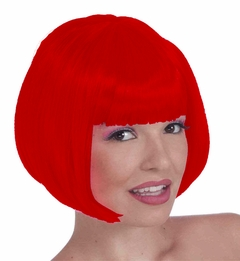 Fire Red Colored Wig - Red Wig