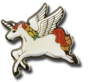 Flying Unicorn Lapel Pin