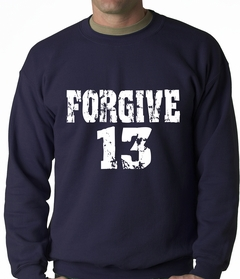 Forgive #13 Baseball Adult Crewneck