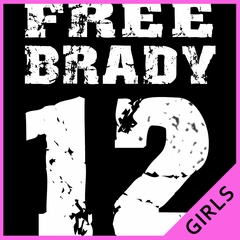Free Brady #12 - Deflategate New England Football Ladies T-shirt