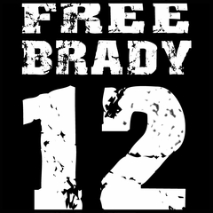 Free Brady #12 - Deflategate New England Football Mens T-shirt