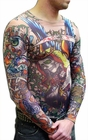 Men's Full Body Dermagraphic Suicide Kings Tattoo Shirt