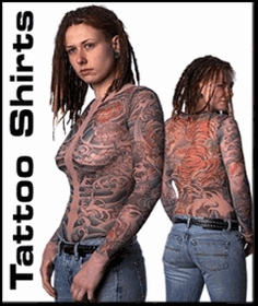 Full Body Tattoo Shirts & Tattoo Clothing