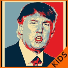 Full Color Trump Portrait Kids T-shirt
