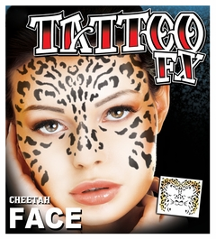 Full Face Temporary Tattoo - Cheetah