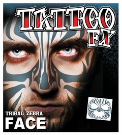 Full Face Temporary Tattoo - Tribal Zebra
