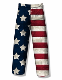 Fun Boxers - American Flag Grunge Lounge Pants