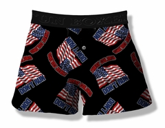 Fun Boxers -  These Colors Don't Run American Flag Boxer Shorts