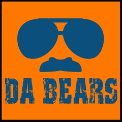 "Funny ""Da Bears"" Sunglasses & Mustache Mens T-shirt"