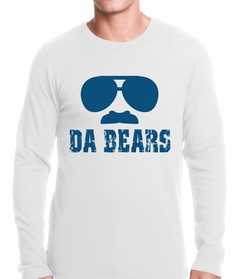 "Funny ""Da Bears"" Sunglasses & Mustache Thermal Shirt"