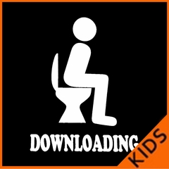 Funny Downloading Poop Kids T-shirt