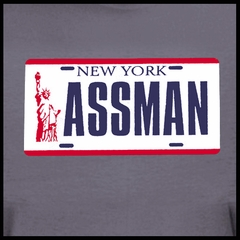 Funny  Shirts ASS MAN Licence Plate T-Shirt