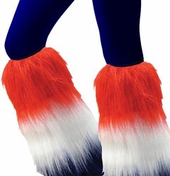 Furry Patriotic (Red, White, and Blue) Leg Warmers
