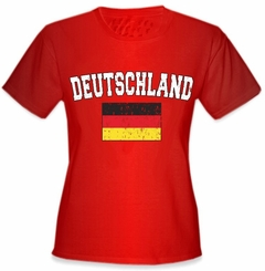 "Germany ""Deutschland"" Vintage Flag International Girls T-Shirt"
