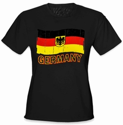 Germany Vintage Flag Girl's T-Shirt