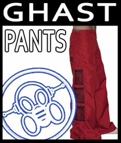 Ghast  Wide Leg Rave Pants on Sale