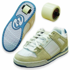 Girls Heelys Switch Roller Shoes (White/Off White/Lt. Blue)