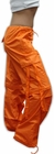 Girls Hipster UFO Pants with Zip Off Legs (Orange)