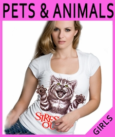 Girls Pets & Animals T-Shirts