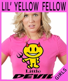 Girls Rude Mello Yellow T-Shirts
