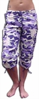 Girls UFO Shorts (Purple Camo)