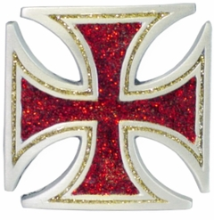 Glitter Iron Cross Buckle With FREE Belt