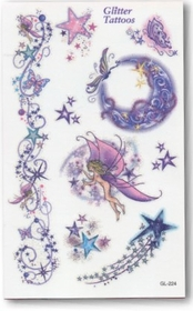 Glitter Star Light Fairies Temporary Fake Tattoo