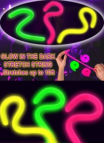 Glow In The Dark and Under Blacklight Magic Stretch String