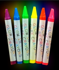 Glow in the Dark Crayons  (Set of 6 Colors)