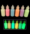 Glow in the Dark Fabric paint tubes (Set of 6)