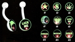 Glow in the Dark Navel Button