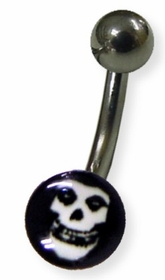 Glow in the Dark Skull Navel Jewelry