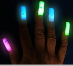 Glow Stick Press On Nails  (Set Of 5)<!-- Click to Enlarge-->