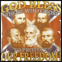God Bless Those Who Protect Our Freedom Confederate Mens T-shirt