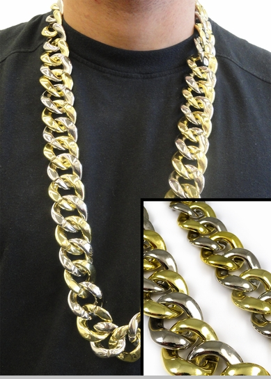 Gold and Silver Gangsta Chain<!-- Click to Enlarge-->