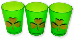 Golden Shamrock Shot Glasses (Set of 3)