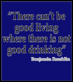 Good Living Good Drinking T-Shirt