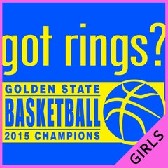 Got Rings? Golden State2015  Basketball Champs Ladies T-shirt