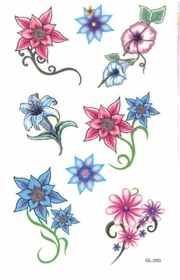 Graceful Flowers Temporary Tattoo