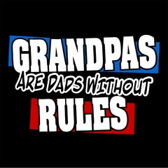 Grandpas are Dads Without Rules Mens T-shirt