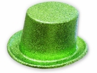 Green Glitter Party Top Hat