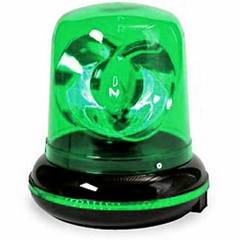 Green Plug in Rotating Warning Police Siren Light